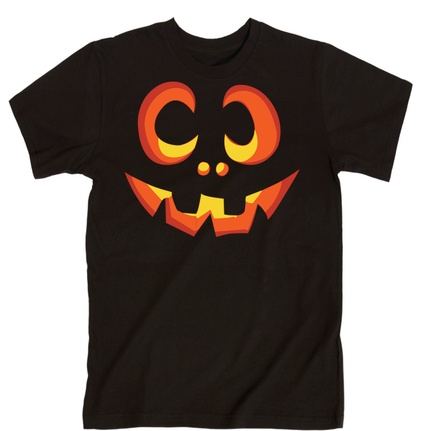 Pumpkin Face | Unisex Black T-Shirt | Eternal Weekend - 1