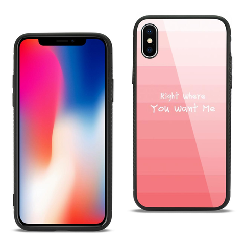iPhone X Pink Hard Glass Case