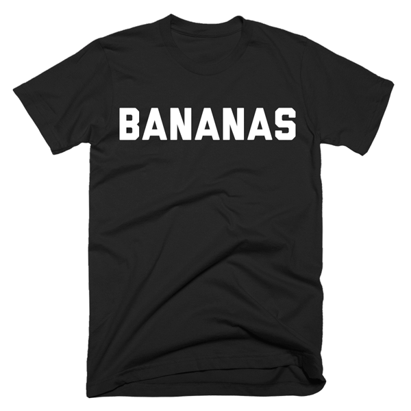 Bananas | Unisex Black T-Shirt | Eternal Weekend - 1