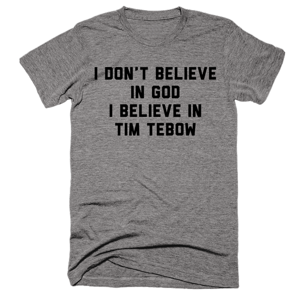I Believe In Tim Tebow | Unisex Gray T-Shirt | Eternal Weekend - 1