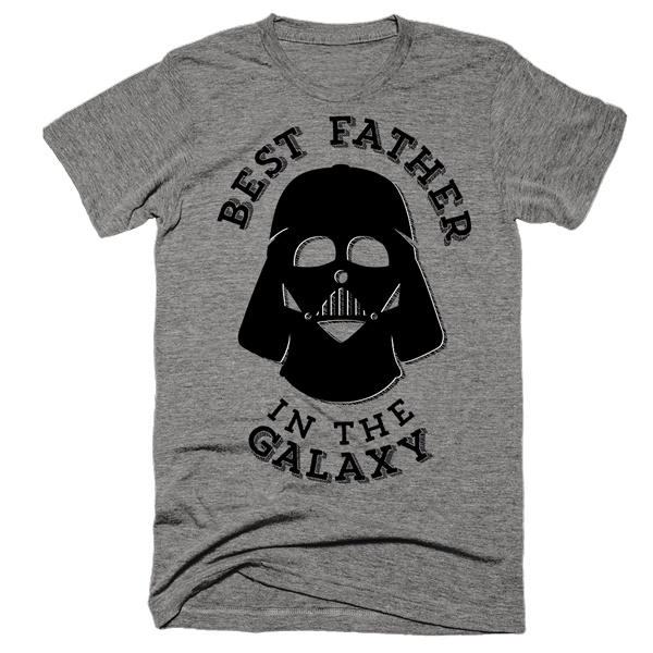 Best Father In The Galaxy | Unisex Gray T-Shirt | Eternal Weekend - 1