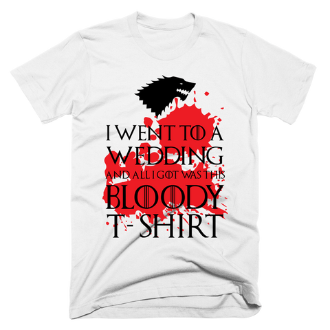 Bloody Wedding Shirt | Unisex White T-Shirt | Eternal Weekend - 1