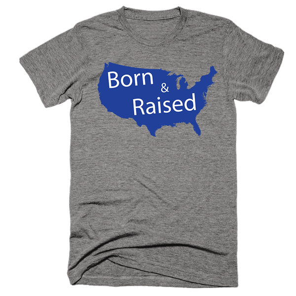 Born & Raised | Unisex Gray T-Shirt | Eternal Weekend - 1