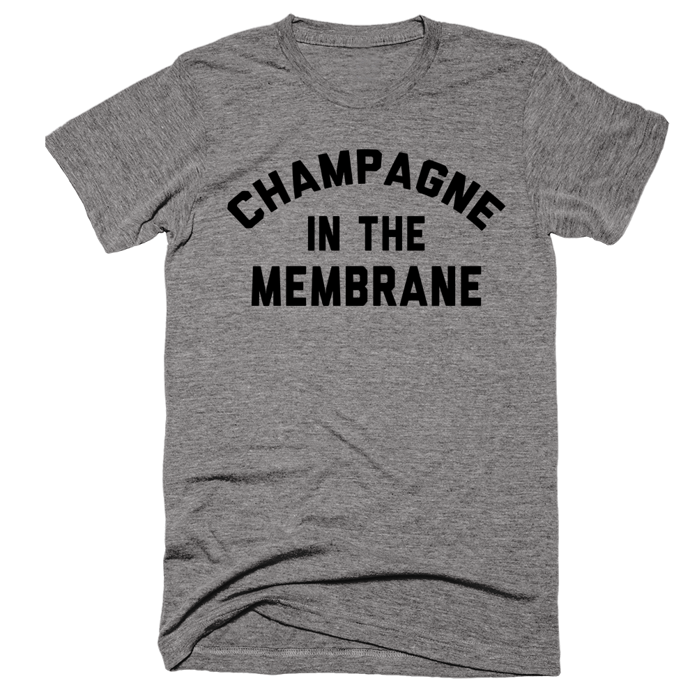 Champagne In The Membrane | Unisex Gray T-Shirt | Eternal Weekend - 1