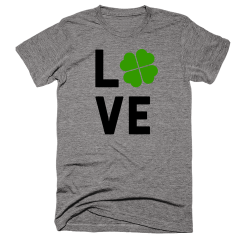 Irish Love (Four Leaf Clover) Shirt | Unisex Gray T-Shirt | Eternal Weekend - 1