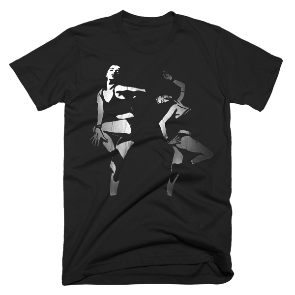 Dancing In The Darkness (Arnie Glesper Collection) | Unisex Black T-Shirt | Eternal Weekend - 2