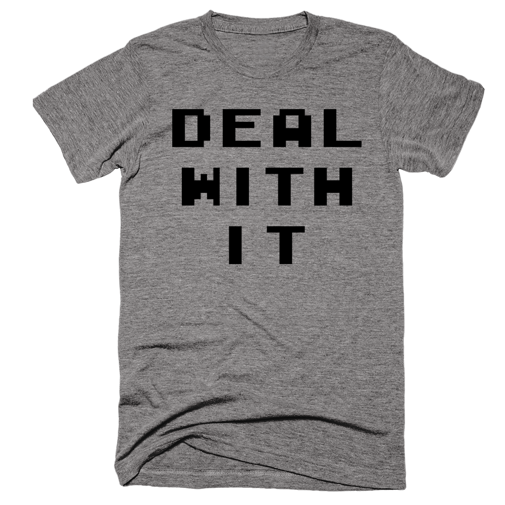 Deal With It | Unisex Gray T-Shirt | Eternal Weekend - 1