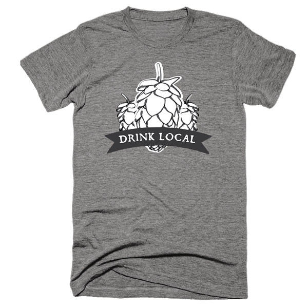 Drink Local Beer | Unisex Gray T-Shirt | Eternal Weekend - 1