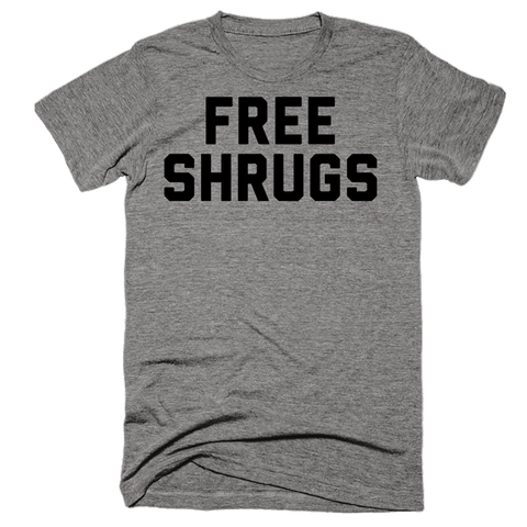 Free Shrugs | Unisex Gray T-Shirt | Eternal Weekend - 1