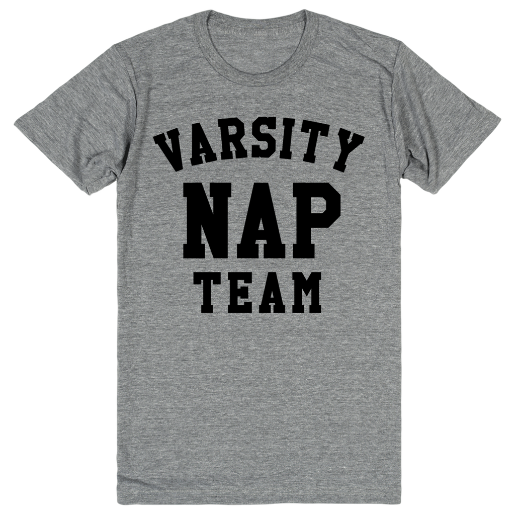 Varsity Nap Team | Unisex Gray T-Shirt | Eternal Weekend - 1