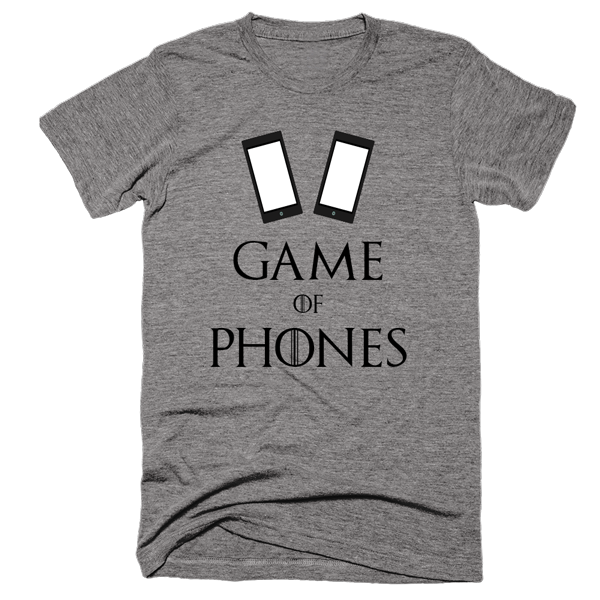 Game of Phones | Unisex Gray T-Shirt | Eternal Weekend - 1