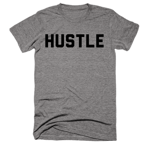 Hustle | Unisex Gray T-Shirt | Eternal Weekend - 1