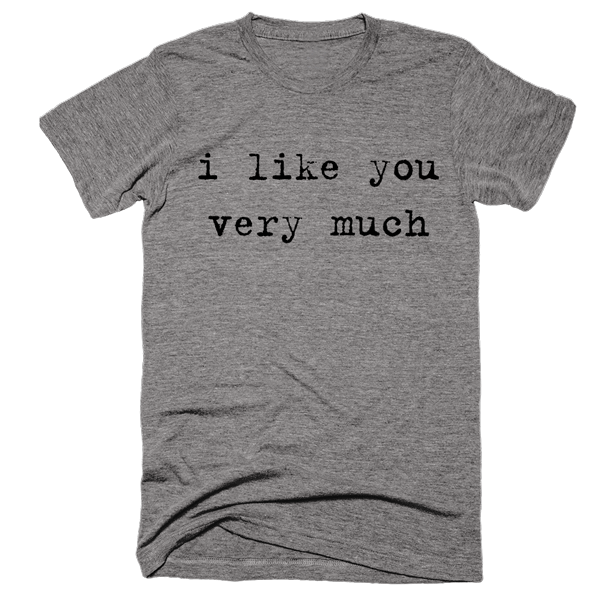 I Like You Very Much | Unisex Gray T-Shirt | Eternal Weekend - 1