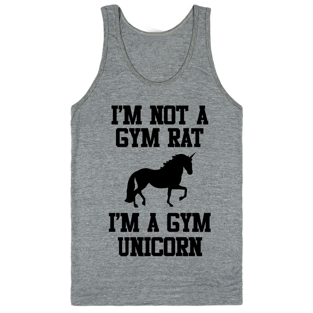 Im Not A Gym Rat I'm A Gym Unicorn Classic tank top (unisex) | Unisex Gray Tank | Eternal Weekend - 1
