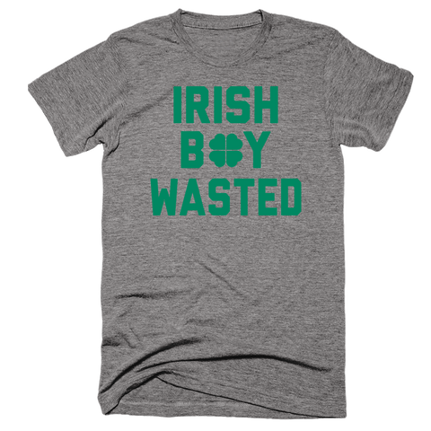 Irish Boy Wasted | St Patty's day shirt | Unisex Gray T-Shirt | Eternal Weekend - 1