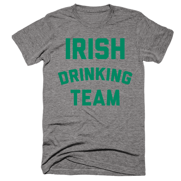 Irish Drinking Team | Unisex Gray T-Shirt | Eternal Weekend - 1