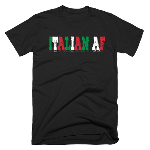 Italian AF | Unisex Black T-Shirt | Eternal Weekend - 1