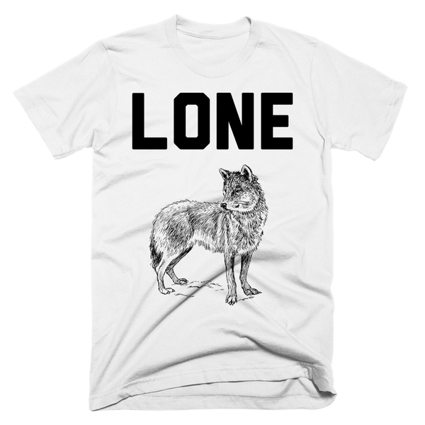 Lone Wolf Shirt | Unisex White T-Shirt | Eternal Weekend - 1