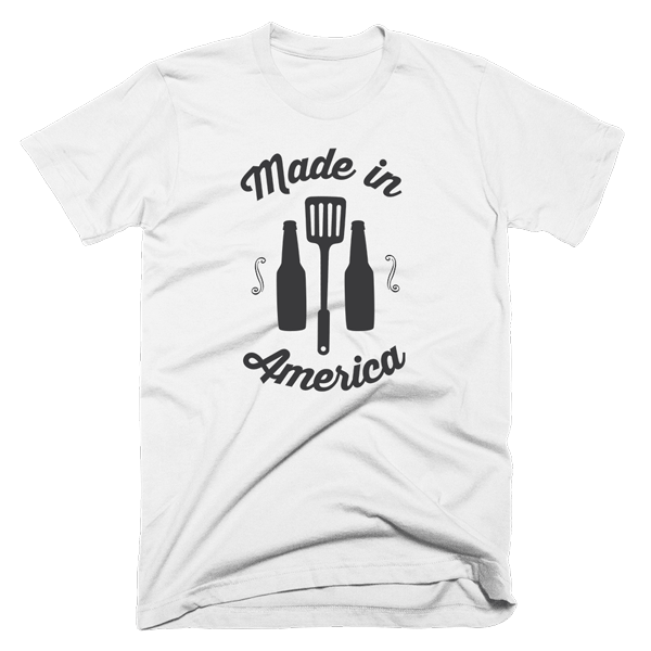 Made In America Shirt | Unisex White T-Shirt | Eternal Weekend - 1