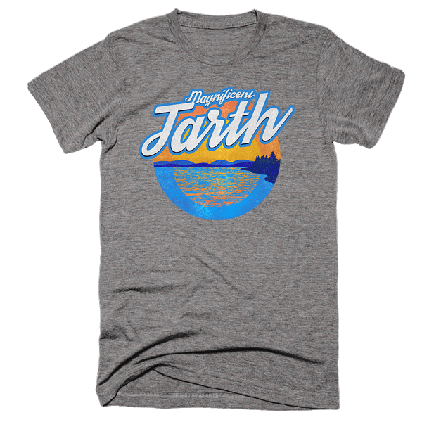 Magnificent Tarth | Unisex Gray T-Shirt | Eternal Weekend - 1