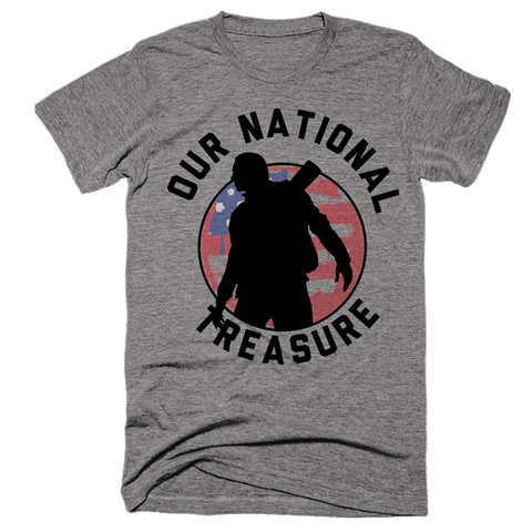 Our National Treasure | Unisex Gray T-Shirt | Eternal Weekend - 1