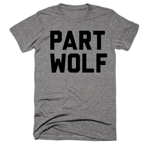 Part Wolf | Unisex Gray T-Shirt | Eternal Weekend - 1