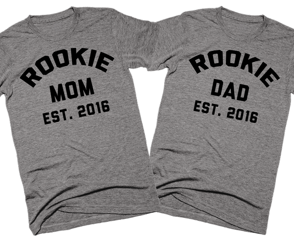 Rookie Mom Est. 2016 | Unisex Gray T-Shirt | Eternal Weekend - 3