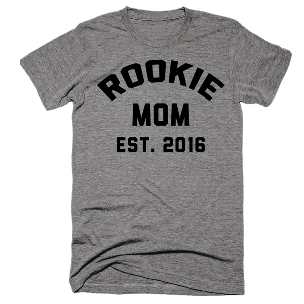 Rookie Mom Est. 2016 | Unisex Gray T-Shirt | Eternal Weekend - 1