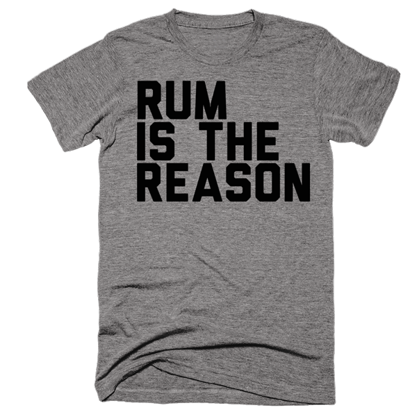 Rum Is The Reason | Unisex Gray T-Shirt | Eternal Weekend - 1