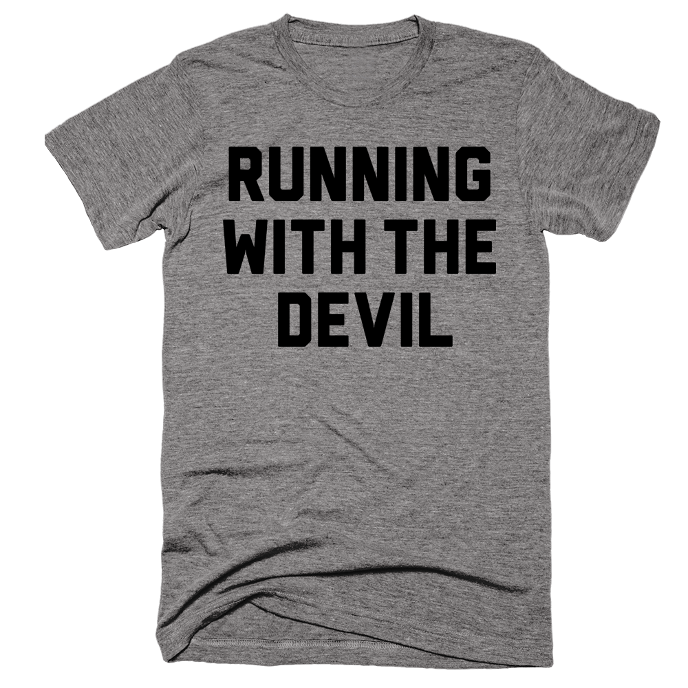 Running With The Devil | Unisex Gray T-Shirt | Eternal Weekend - 1