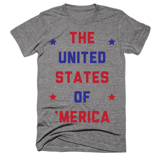 The United States Of 'Merica | Unisex Gray T-Shirt | Eternal Weekend - 1