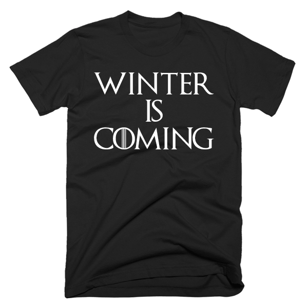 Winter Is Coming | Unisex Black T-Shirt | Eternal Weekend - 1