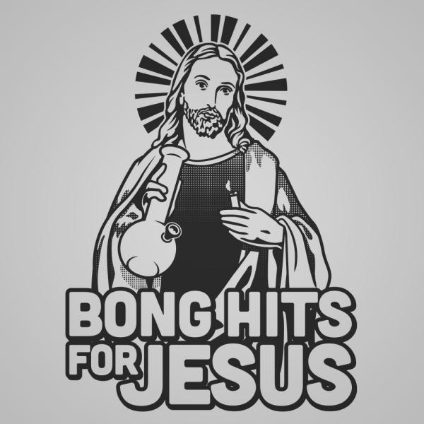 Bong Hits For Jesus (Black Ink) Men's T-Shirt