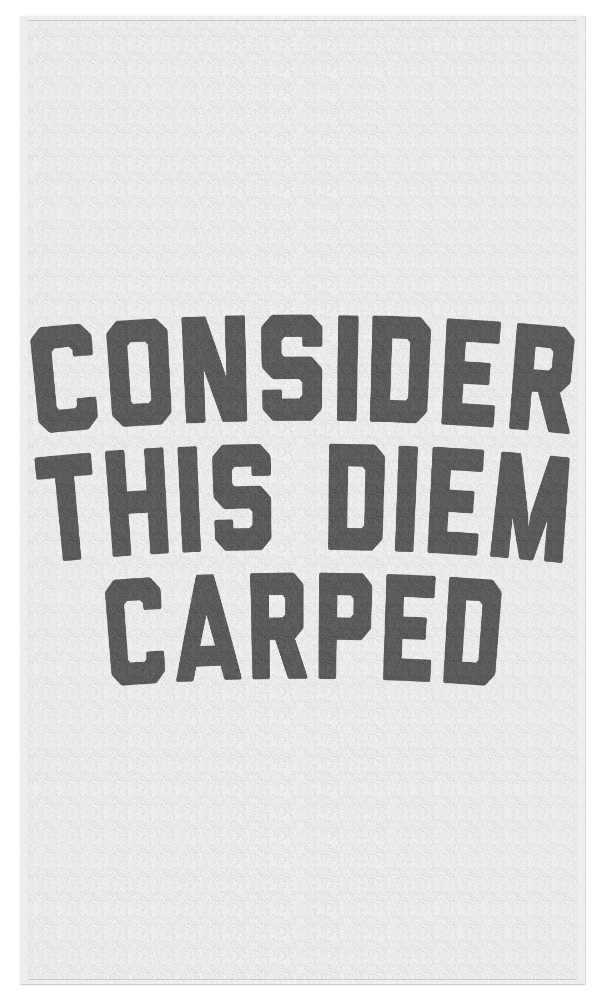 Carped that Diem... Beach Towel - JG