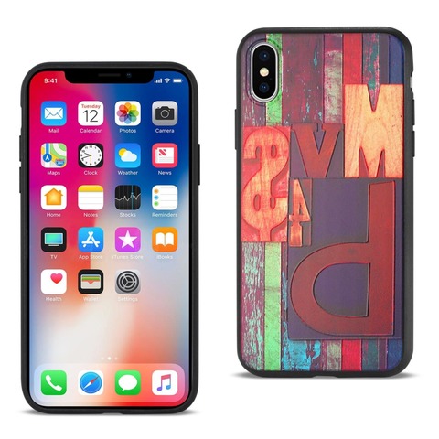 iPhone X Embossed Letter Case