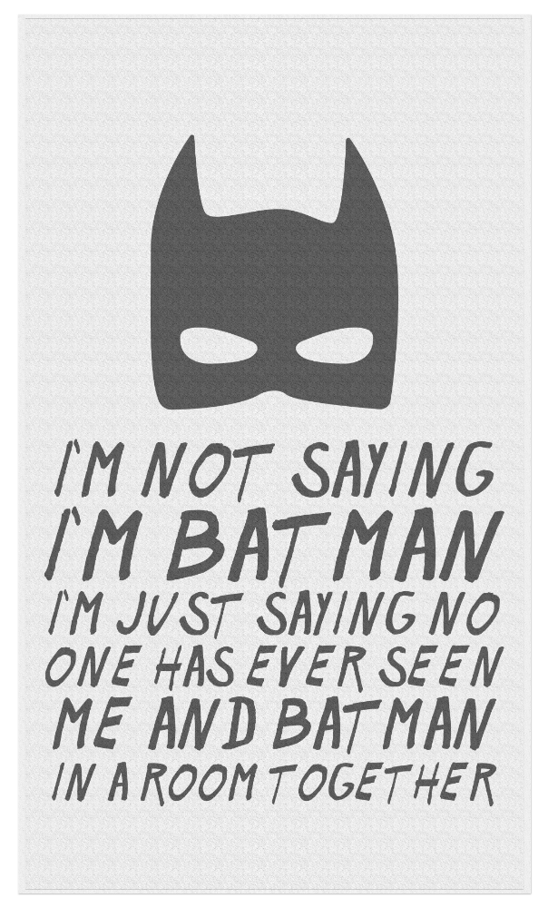 Not saying I'm Batman - Beach Towel - JG