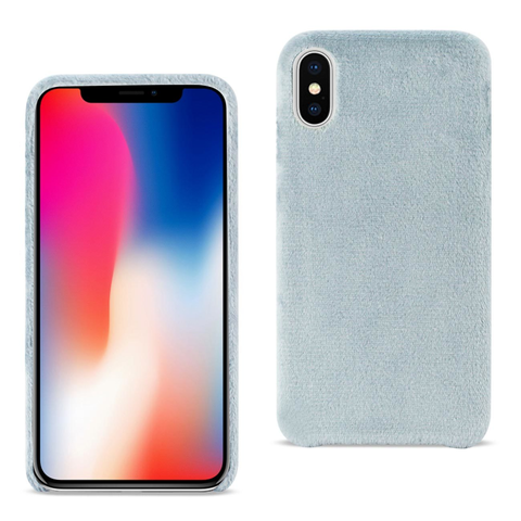 iPhone X Fuzzy Gray Fur Case
