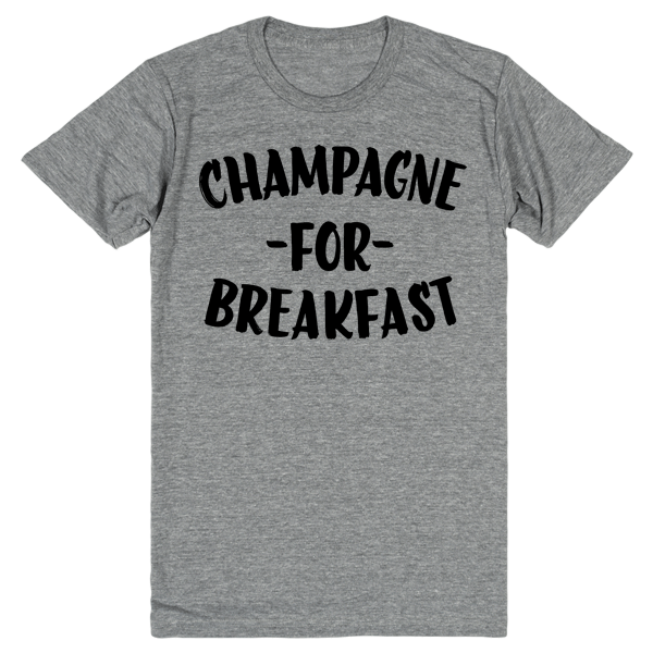 Champagne For Breakfast | Unisex Gray T-Shirt | Eternal Weekend - 1