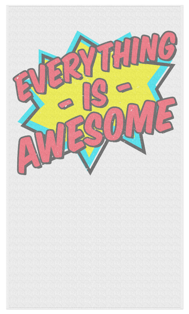 Everything Is Awesome - Beach Towel - JG