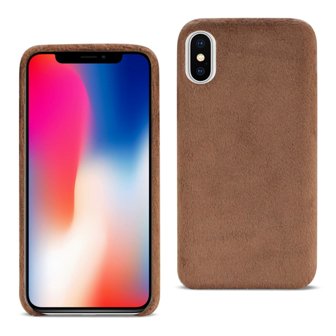 iPhone X Fuzzy Brown Fur Case