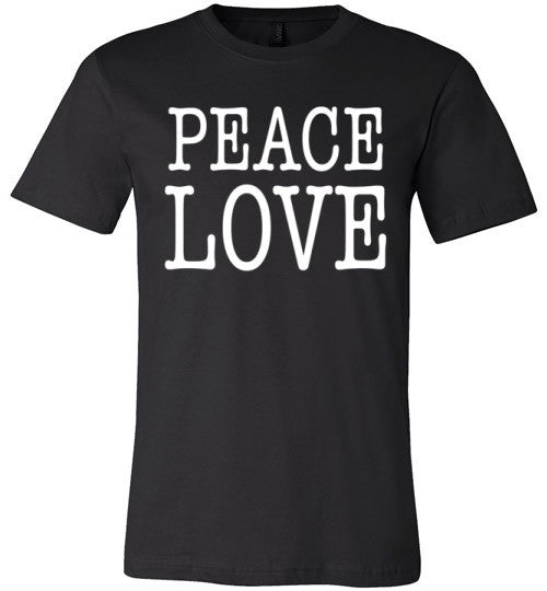 Peace Love | Unisex Black T-Shirt | Eternal Weekend - 2