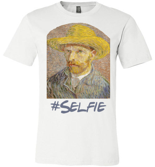 Van Gogh Selfie | Unisex White T-Shirt | Eternal Weekend - 1