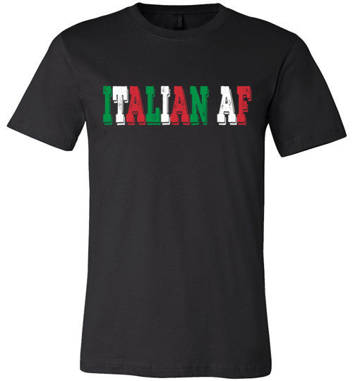 Italian AF | Unisex Black T-Shirt | Eternal Weekend - 4