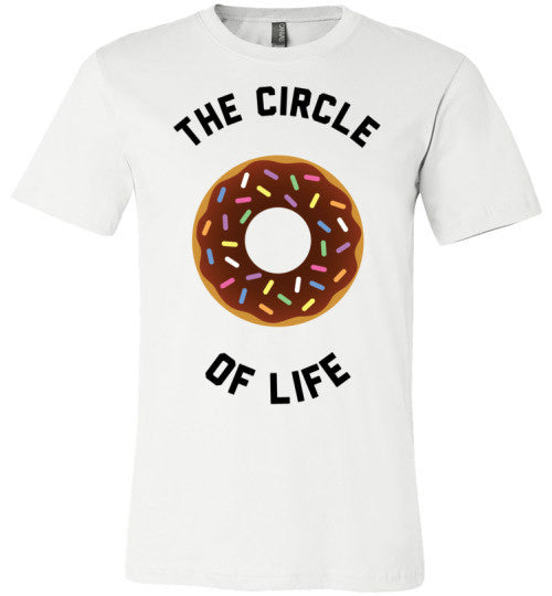 The Circle Of Life (Donut) | Unisex White T-Shirt | Eternal Weekend - 1