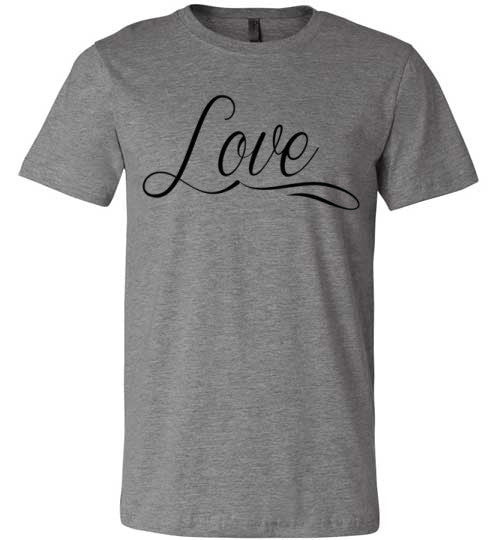 Love (script) | Unisex Gray T-Shirt | Eternal Weekend - 2