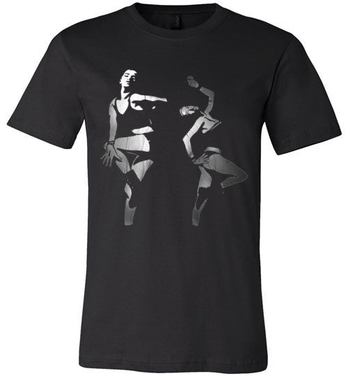 Dancing In The Darkness (Arnie Glesper Collection) | Unisex Black T-Shirt | Eternal Weekend - 1