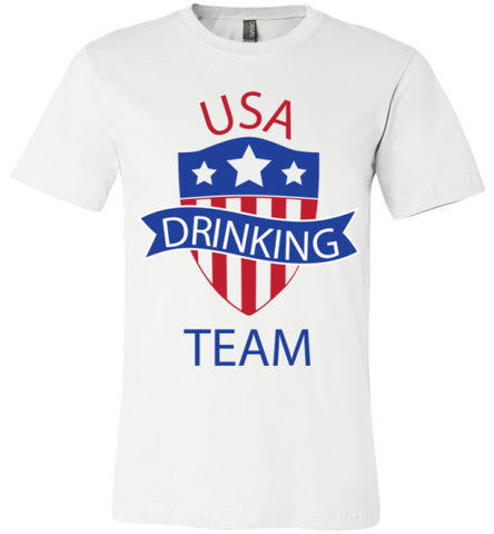 USA Drinking Team | Unisex White T-Shirt | Eternal Weekend - 1