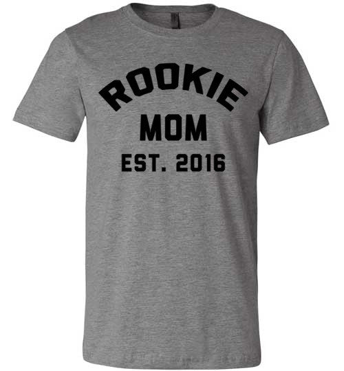 Rookie Mom Est. 2016 | Unisex Gray T-Shirt | Eternal Weekend - 5