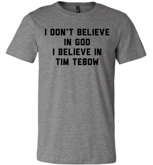 I Believe In Tim Tebow | Unisex Gray T-Shirt | Eternal Weekend - 3