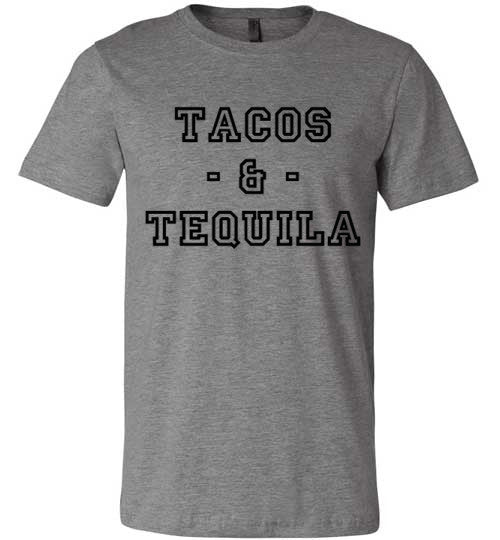 Tacos And Tequila | Unisex Gray T-Shirt | Eternal Weekend - 4